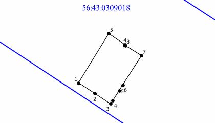 Результат выполнения процедуры объединения двух ЗУ — геометрия